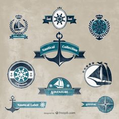 Nautical vector graphics Free Vector