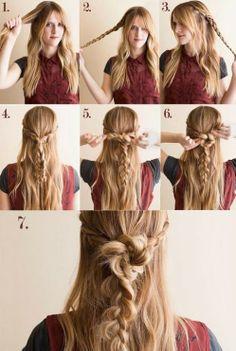 Hair styles, long hair style
