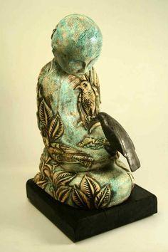 """""""Stll,"""" 2007. 26"""" tall. Sculpture by Diane Sullivan"""