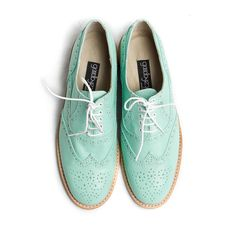 Women's Oxford Shoes in Mint