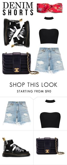 """""""Untitled #520"""" by thedutchezz ❤ liked on Polyvore featuring R13, Dr. Martens, Chanel and Gucci"""