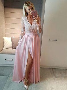 Long Sleeves Prom Dresses,Elegant Prom Dresses with Sleeves,Long Prom Dresses For Teens,Cheap Prom Dresses Lace Bridesmaid Dresses With Sleeves, Prom Dresses For Teens, Elegant Prom Dresses, Pink Prom Dresses, Prom Dresses With Sleeves, A Line Prom Dresses, Cheap Prom Dresses, Formal Evening Dresses, Dress Formal