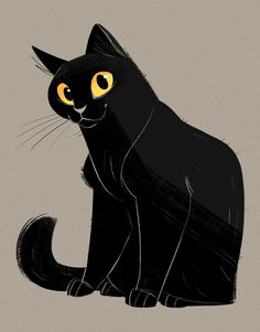 720: Black Cat A co-worker let me know it was black cat appreciation day. My first kitty was a black cat so I couldn't resist doing a drawing ❤ Miss you Max.