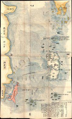 blushisthecourt: A previously unknown manuscript map of Tokugawa era trade routes between Japan, Taiwan, and China.