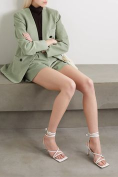 Mint Gala cotton-corduroy blazer | Frankie Shop | NET-A-PORTER Corduroy Blazer, Cute Rompers, Faux Leather Pants, Date Outfits, Brown Sweater, Printed Pants, Distressed Denim, Fashion News, My Style