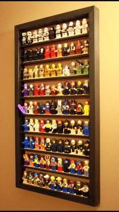 2-Pack Lego Minifigure Display Case by TheMinifigFrameShop