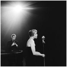 Rita Reys & Ed van der Elsken Concertgebouw Amsterdam 14 december 1956 © Hans Buter Youth Culture, Social Change, Family Life, Rock N Roll, Work Hard, Netherlands, Amsterdam, Jazz, The Unit