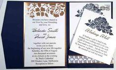 Floral Ohrases, Detailed Floral Thinlits, Floral Boutique DSP, Simple Serif Alphabet, Copper Foil - (wedding invitation - view 3) - AWHT Blog Hop