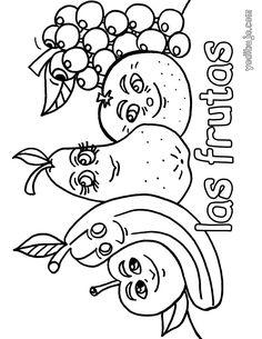 Dibujos Para Colorear Las Frutas