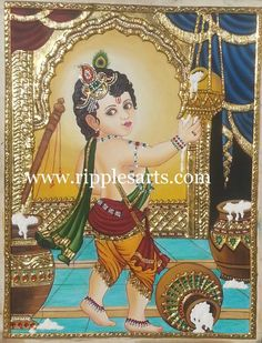 tanjore - Painting by Ripple Paul at touchtalent 65044