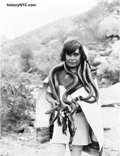 Native Snake Man W Snakes Hanging From Neck Vintage Reprint Old P – Photoseeum Native American Photos, Native American Tribes, Native American History, American Indians, Indian Tribes, Native Indian, Hopi Indians, Navajo, First Nations