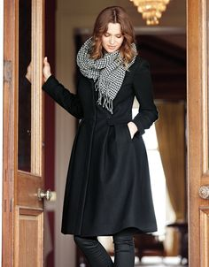 "Full Skirt Coat - Bravissimo (come in different levels of ""curviness"" for larger bust sizes)"