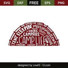 *** FREE SVG CUT FILE for Cricut, Silhouette and more *** Tent and words