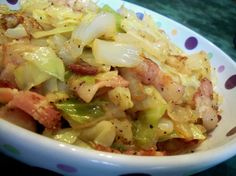 Fried Cabbage from Food.com: Nice flavor and easy to prepare. Good side dish for any pork entree. If you prefer it more mild, just add a dash of red pepper flakes instead of the 1/4 tsp. indicated.