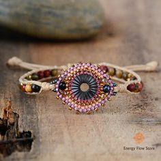 Handmade Bohemian Style Stones Beaded Bracelets For Women Beaded Wrap Bracelets, Handmade Bracelets, Rope Bracelets, Gemstone Bracelets, Friendship Bracelets, Stone Wrapping, Boho Home, Boho Girl, Boho Chic