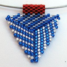 Audacity of Hope  Peyote Triangle Pendant (2341) - A Sand Fibers Made-to-Order Creation