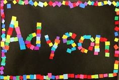 Artsonia Art Gallery - First Grade Name Collage