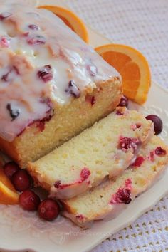 christmas gift orange canberry loaf cake