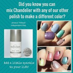 How awesome is that you can mix colors with GelMoment to make a whole new one!! Make sure to add Chandelier to your collection.  Just mix two colors on a tin foil for example and paint on your nails   #gelmoment #chandelier