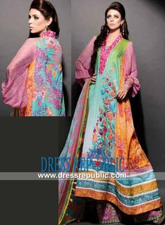 Charismatic Noir Embroidered Lawn 2014 | Pakistani Lawn Suits  Designer Lawn Collection 2014 with Prices on Dressrepublic. Shop the Latest Pakistani Lawn Suits in Los Angeles, Philadelphia