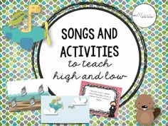 Need fun visuals and lessons for the musical opposites high and low? This 90-page product includes songs, chants, activities, visuals, and more!