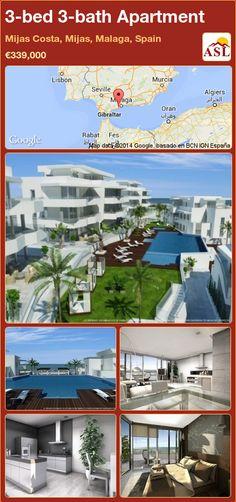 3-bed 3-bath Apartment in Mijas Costa, Mijas, Malaga, Spain ►€339,000 #PropertyForSaleInSpain
