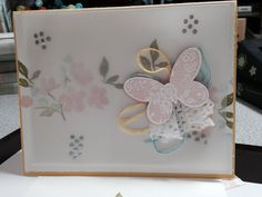 stampin' up! basic butterflies and painted petals, ink and cs