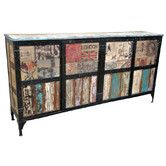Found it at Wayfair Australia - Large Industrial Designer European Sideboard with Iron Surrounds