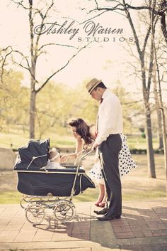 Vintage couple with pram. (So hard to choose only one of these shots!)