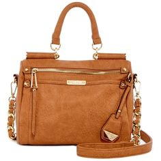 Jessica Simpson Deven Small Satchel Crossbody ($45) ❤ liked on Polyvore featuring bags, handbags, shoulder bags, dpcog, jessica simpson crossbody, handbag satchel, shoulder strap bags, brown crossbody satchel and jessica simpson handbags