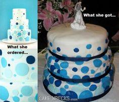 Broke ass bride cake wrecks
