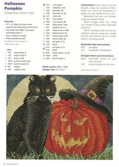 CS - Halloween Pumpkin and Black Cat Pattern Page 1 of 3