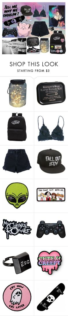 """i desperately need some adventure"" by nefelisas ❤ liked on Polyvore featuring Baron Von Fancy, Vans, Nobody Denim, Azalea, Sony and ASOS"