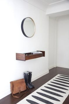 Hunter Boots make great props, too. Entryway storage: Remodelista
