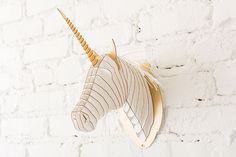 Deck out your walls with this unicorn head.