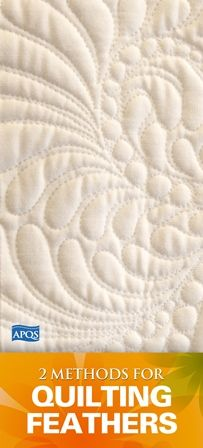 When delving into the world of custom quilting there is one design element that virtually all quilters want to learn to create – feathers! The best part is, with a little practice anyone can create beautiful flowing feathers.