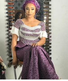 "742 Likes, 1 Comments - Ankara Collections (@ankaracollections) on Instagram: ""Beautiful @olaitansugar #nigerianwedding #bellanaijaweddings #weddingdigestnaija #asoebi #fashion"""