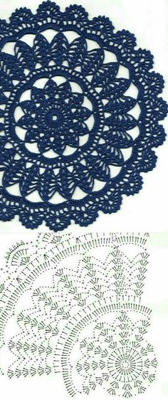 Crochet Doily Diagram, Crochet Doily Patterns, Crochet Art, Crochet Home, Crochet Motif, Crochet Doilies, Crochet Flowers, Crochet Circles, Crochet Squares