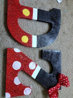 Mickey and minnie letters