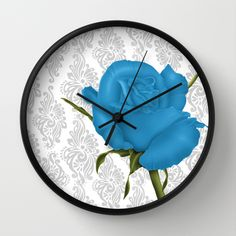 #roses #floral #flowers #romantic #pretty #beautiful #wallclock #walldecor in different #homedecor products. Check more at society6.com/julianarw