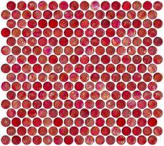 Susan Jablon Mosaics - Penny Round Red Iridescent Glass Tile by Susan Jablon Mosaics, http://www.amazon.com/dp/B0083H8FVS/ref=cm_sw_r_pi_dp_dTeGrb1AH8GV1
