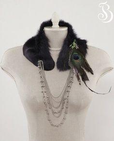 Fur collar necklace