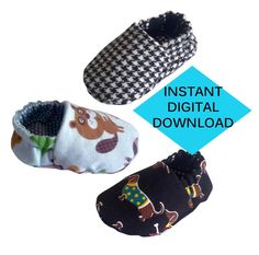 Reversible Baby Shoes Sewing Pattern- PDF tutorial by BuddyBoyApparel on Etsy https://www.etsy.com/listing/219894133/reversible-baby-shoes-sewing-pattern-pdf