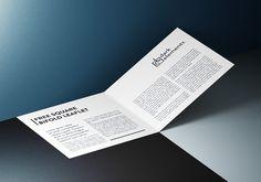 Square bifold leaflet mockup
