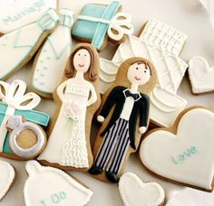 Cute as favors or for engagement parties?-I love iced sugar cookies!!!!