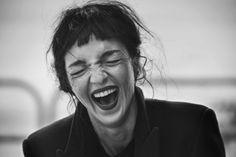 Smile: Mariacarla Boscono in Vogue Italia November 2014 by Peter Lindbergh
