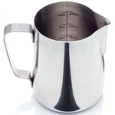 Chef World 20 Oz. Stainless Steel Coffee Milk Frothing Pitcher with Handle