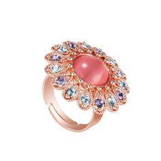 Charming Ruby Princess Zirconia Engagement Ring