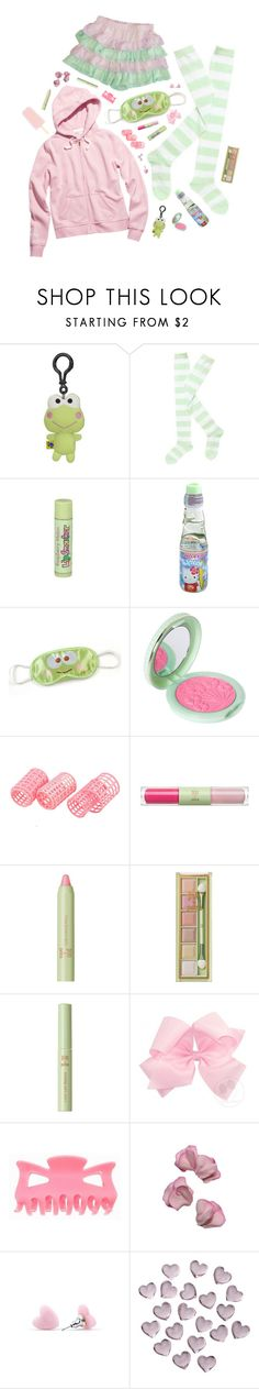 """keroppi kid"" by sookii ❤ liked on Polyvore featuring Hello Kitty, Paul & Joe, Pixi, Sweet Pea by Stacy Frati, Crate and Barrel, Thomas Sabo, Pink, GREEN, kawaii and sanrio"