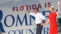 #213 Oct. 19-Utah Newspaper Endorsement Slams Mitt Romney; Republican presidential candidate Mitt Romney and wife Ann leave the stage after a campaign rally, Oct. 6, 2012, in Apopka, Fla. (Jewel Samad/AFP/Getty Images)